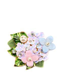 Dolce & Gabbana | Брошь С Цветочным Декором И Кристаллами Swarovski