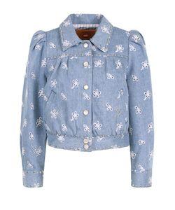 Marc Jacobs | Джинсовая Куртка С Вышивкой И Рукавом-Фонарик