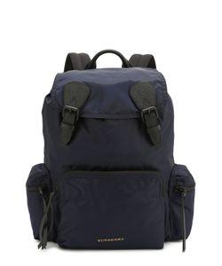 Burberry | Текстильный Рюкзак С Клапаном И Отделкой Из Натуральной Кожи