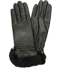 Agnelle | Кожаные Перчатки С Отделкой Из Меха Кролика