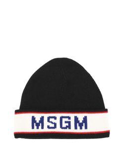 MSGM | Шерстяная Шапка С Контрастной Отделкой
