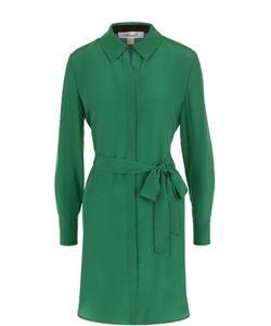 Diane Von Furstenberg | Шелковое Платье-Рубашка С Поясом