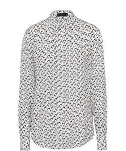 Joseph | Шелковая Блуза Прямого Кроя С Контрастным Принтом