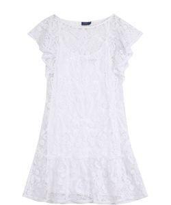 Polo Ralph Lauren | Однотонное Кружевное Мини-Платье