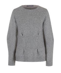 Alexander McQueen | Кашемировый Пуловер С Круглым Вырезом И Защипами