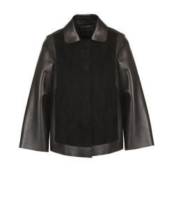Giorgio Armani | Кожаная Куртка Свободного Кроя С Замшевой Отделкой
