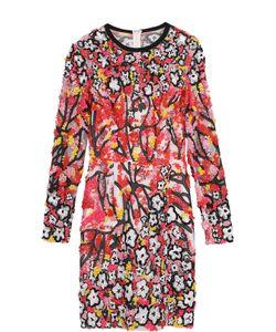 Elie Saab | Мини-Платье С Разрезом И Контрастной Вышивкой