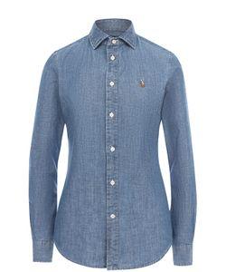 Polo Ralph Lauren | Приталенная Джинсовая Блуза С Вышитым Логотипом Бренда