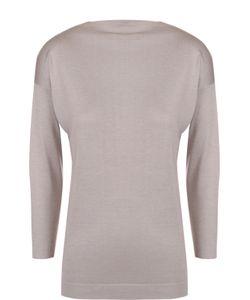Cruciani | Кашемировый Пуловер С Вырезом-Лодочка И Укороченным Рукавом