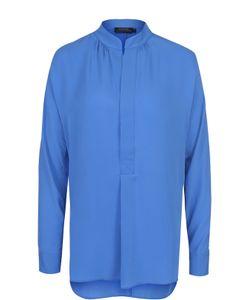 Polo Ralph Lauren | Шелковая Блуза Свободного Кроя С Воротником-Стойкой