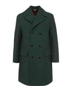 Gucci | Двубортное Шерстяное Пальто С Необработанным Краем
