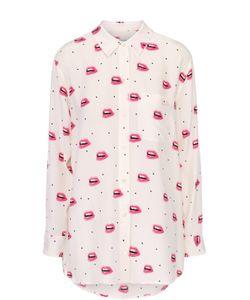 Equipment | Шелковая Блуза Свободного Кроя С Контрастным Принтом