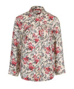 Zadig & Voltaire   Шелковая Блуза С Цветочным Принтом И Бахромой