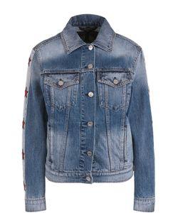 Belstaff   Джинсовая Куртка С Нашивками В Виде Звезд