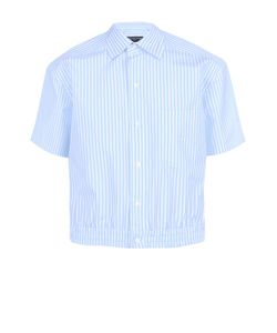 Balenciaga | Хлопковая Рубашка С Короткими Рукавами И Поясом На Резинке