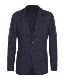 Windsor | Однобортный Приталенный Пиджак Из Смеси Хлопка И Шерсти
