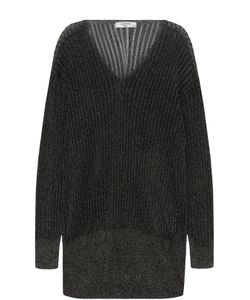 Lanvin | Удлиненный Пуловер С Металлизированной Отделкой
