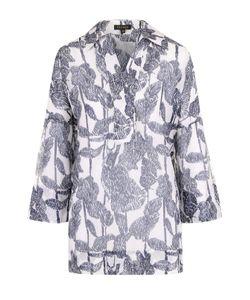 Escada   Блуза С Укороченным Рукавом И Цветочным Принтом