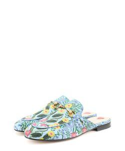 Gucci | Сабо Princetown Из Текстиля С Цветочным Узором