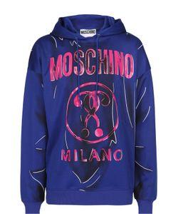 Moschino | Хлопковая Толстовка С Принтом В Технике Тромплей