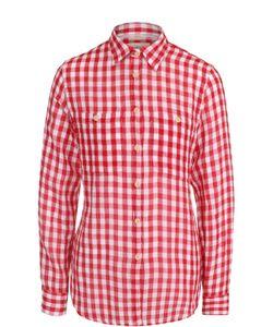 Denim & Supply Ralph Lauren   Хлопковая Блуза Свободного Кроя В Клетку