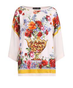Dolce & Gabbana   Шелковый Топ Свободного Кроя С Принтом