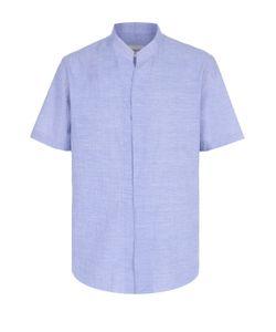 Armani Collezioni | Хлопковая Рубашка Свободного Кроя С Короткими Рукавами