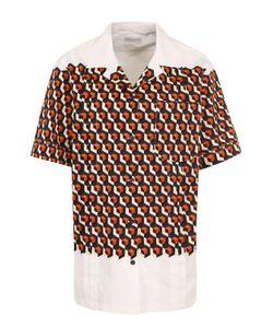 Dries Van Noten | Хлопковая Блуза С Принтом И Коротким Рукавом