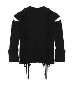 Alexander McQueen | Шерстяной Пуловер С Разрезами На Рукавах И Шнуровкой