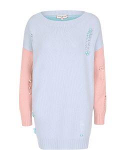 Natasha Zinko | Удлиненный Пуловер С Вырезом-Лодочка И Декоративной Отделкой