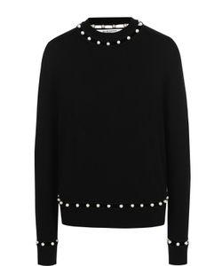 Givenchy   Шерстяной Пуловер С Жемчужной Отделкой
