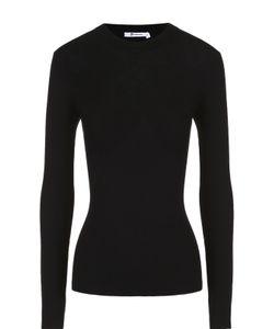 T By Alexander Wang | Облегающий Пуловер Фактурной Вязки С Круглым Вырезом