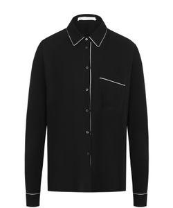 BOSS | Шелковая Блуза С Контрастной Отделкой