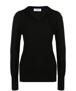 DKNY | Вязаный Пуловер С V-Образным Вырезом