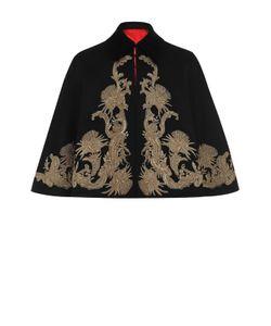 Alexander McQueen | Укороченное Пальто Свободного Кроя Из Смеси Шерсти И Кашемира С Вышивкой