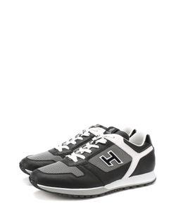 Hogan | Кожаные Кроссовки С Текстильными Вставками