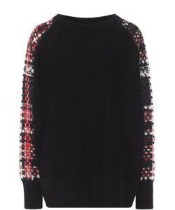 Rag & Bone | Хлопковый Пуловер С Контрастными Буклированными Рукавами