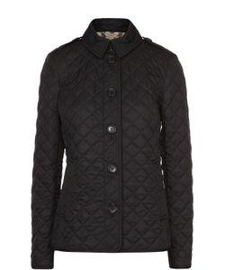 Burberry | Стеганая Куртка С Отложным Воротником