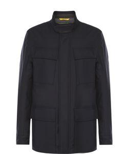 Canali | Утепленная Куртка Из Смеси Шерсти И Шелка С Отделкой Из Натуральной