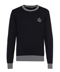 Dolce & Gabbana | Хлопковый Джемпер С Вышивкой И Контрастной Отделкой