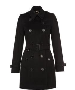 Burberry | Двубортное Укороченное Пальто С Поясом И Погонами