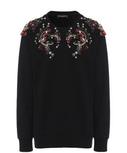 Dolce & Gabbana | Пуловер С Круглым Вырезом И Декоративной Отделкой