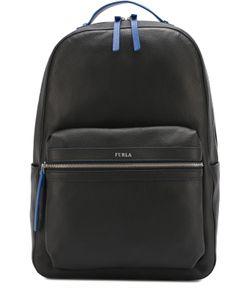 Furla | Кожаный Рюкзак С Внешним Карманом На Молнии