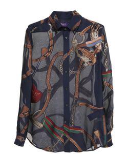 Ralph Lauren | Шелковая Полупрозрачная Блуза С Принтом