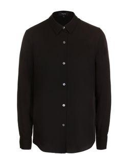 Theory   Приталенная Шелковая Блуза