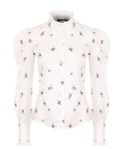 Isabel Marant | Приталенная Блуза С Цветочным Принтом И Рукавом-Фонарик