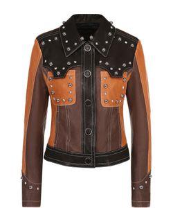 Drome | Укороченная Кожаная Куртка С Декоративной Отделкой