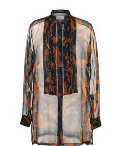 Dries Van Noten | Шелковая Полупрозрачная Блуза С Принтом
