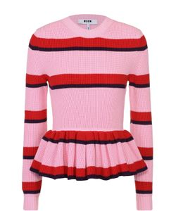 MSGM | Пуловер В Контрастную Полоску С Баской