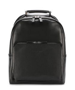 Canali | Кожаный Рюкзак С Внешним Карманом На Молнии